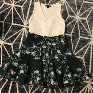 Lauren Conrad Floral Circle Skirt